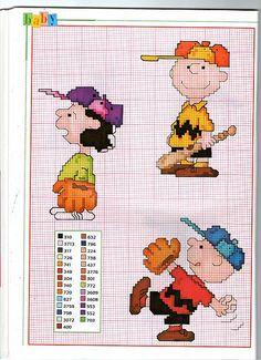 Charlie Brown Lucy e il baseball schemi da ricamare
