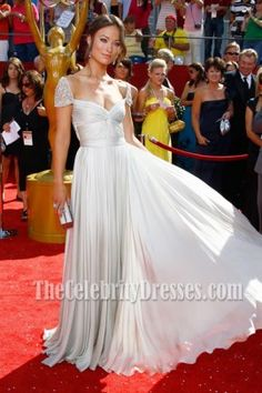 Olivia Wilde Prom Dress 60th Primetime Emmy Awards Red Carpet Dresses - TheCelebrityDresses