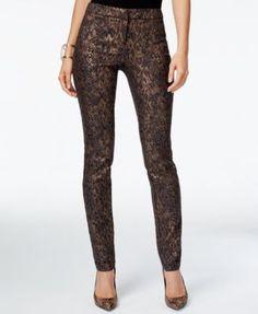 Alfani PRIMA Jacquard-Print Skinny Pants, Only at Macy's
