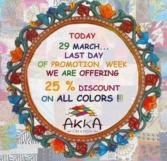 Today March 29 is the last day of the week promotion!    We offer you a 25% discount on all our products and colors.    With the savings that you will achieve as well you can buy even more chocolates. No problem, we can offer you our pretty dresses in all sizes.    #today #march #lastday #promotion #thankyou #loyalty #happy #easter #offer #discount #products #colors #spring #shop #ethicalfashion #printedcloth #womanfashion #accessories #todaysoffer #springdiscount