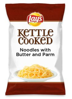 Wouldn't Noodles with Butter and Parm be yummy as a chip? Lay's Do Us A Flavor is back, and the search is on for the yummiest flavor idea. Create a flavor, choose a chip and you could win $1 million! https://www.dousaflavor.com See Rules.