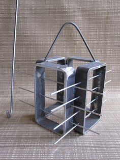 raku bead rack by ifitsmetal, via Flickr