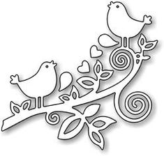 This adorable Love Birds Die from Impression Obsession is a US-made steel die compatible with most table-top die cutting machines. Silhouette Curio, Impression Obsession, Bird On Branch, Watercolor Texture, Patch Quilt, Kirigami, Paper Cards, Paper Cutting, Die Cutting