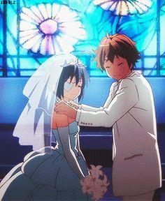 Togashi Yuuta and Takanashi Rikka at their wedding (◕‿◕✿)