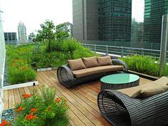 // Midtown Sky Garden New York by HM White Architects Sky Garden, Terrace Garden, Rooftop Terrace, Rooftop Gardens, Outdoor Spaces, Outdoor Living, Outdoor Decor, Porches, Pergola