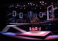 Set design for the Michigan Premiere of Next to Normal by Jeremy Barnett