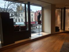 Big floor windows also allow some natural lighting to come inside the space, giving customers a touch of freedom.
