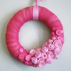 Pretty in Pink...Breast Cancer Awareness Wreath