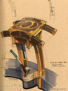 Amateria Concept Art, from Myst III: Exile
