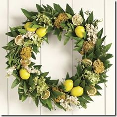 Fine Craft Guild.com By Williams Sonoma. Made with laurel leaves, faux lemons and other goodies.