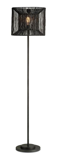 Ewen Floor Lamp - A tramp art looking shade. Available at Kuhl-Linscomb, Houston.