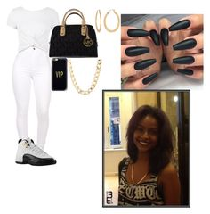 """Untitled #437"" by queen-ayanna on Polyvore featuring Retrò, New Look, Michael Kors, Casetify, Fragments and Charlotte Russe"