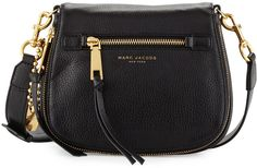 Marc Jacobs Recruit Small Saddle Bag, Black