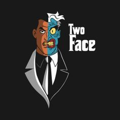 Shop The Facefather two face t-shirts designed by Barbadifuoco as well as other two face merchandise at TeePublic. Two Face Batman, Batman And Superman, Batman Stuff, Comic Movies, Comic Book Characters, Comic Books, Batman Universe, Comics Universe, Marvel Concept Art