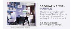 Purple paint color