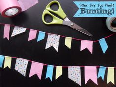 Teeny Tiny Two Minute Bunting for blog