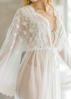 VINTAGE LACE BRIDAL robe for wedding day, boudoir photo shoot, lingerie for your wedding night, maternity photo shoot, honeymoon lingerie Lace Bridal Robe, Bridal Boudoir, Bridal Robes, Wedding Lingerie, Wedding Underwear, Bridal Suite, Bride Gowns, Wedding Gowns, Wedding App