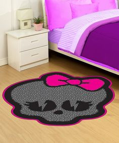 This Monster High Logo Rug by Monster High is perfect! #zulilyfinds   We have to order this!!!!
