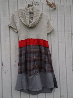 funky sweater dress / eco dress / upcycled clothing / by CreoleSha