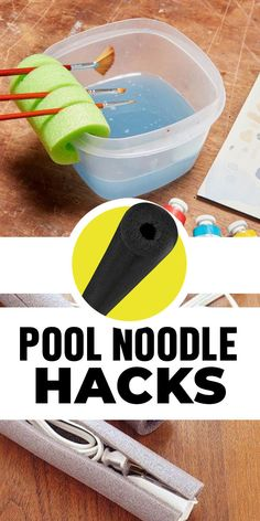 Pool noodle crafts - Brilliant Homeowner Hacks for Pool Noodles Diy Hacks, Cleaning Hacks, Ikea Hacks, Diy And Crafts, Crafts For Kids, Arts And Crafts, Pool Noodle Crafts, Crafts With Pool Noodles, Craft Projects
