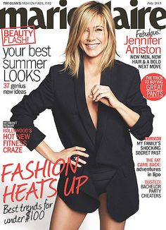 #JenniferAniston on the cover of Marie Claire.