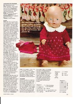 Album Archive - Dukketøj til Baby Born 2 - Ingelise Doll Sewing Patterns, Doll Clothes Patterns, Baby Knitting Patterns, Ag Dolls, Reborn Dolls, Girl Dolls, Knitting Dolls Clothes, Knitted Dolls, Baby Born Clothes
