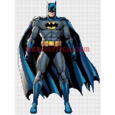 Batman cross stitch pattern from the Marvel Universe