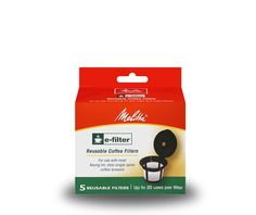 The Melitta E-Filter Reusable Coffee Filters for K-Cup brewers allow you to use any kind of ground coffee you want. The Melitta E-Filter Reusable Coffee Filters package contains 5 reusable filters each designed to last up to 20 uses. Reusable Coffee Filter, Coffee Accessories, Brewing Equipment, Coffee Filters, K Cups, Keurig, Coffee Shop, Catalog, Detail