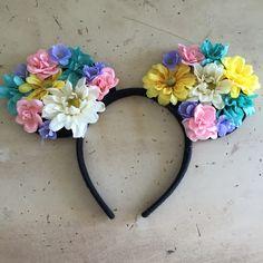 Diy Floral Minnie Mouse Ears