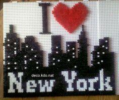 I love New York hama perler beads by by deco.kdo.nat