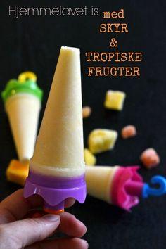 Hjemmelavet is med skyr og tropiske frugter