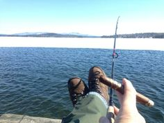 Spring salmon fishing on Winnipesaukee: Lazy version. Weirs Beach, NH
