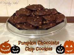 Halloween Pumpkin and Chocolate Chip Cookies