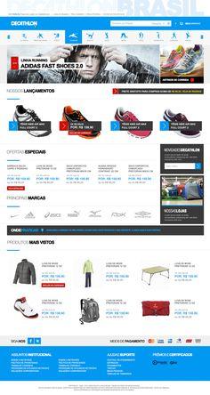 layout para a loja de artigos esportivos Decathlon - Plataforma VTEX