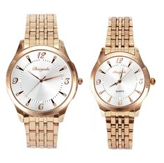 24.00$  Buy now - http://alit82.shopchina.info/go.php?t=32739452907 - Fashion Simple Elegant Quartz Watches Men Women Stainless Steel Strap Gold Casual Business Quartz Watch  #buymethat
