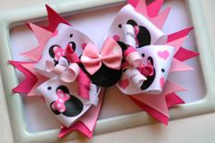 Girls Hair Bow Clip Made to Match Minnie Mouse Birthday Party on Etsy, $9.95