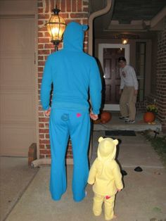 takes a true man/ father to dress up as a care bear with his daughter and parade around lol