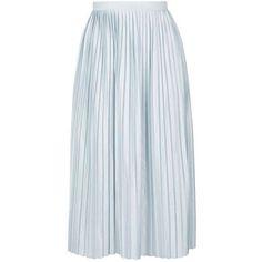 TopShop Jersey Pleat Midi Skirt found on Polyvore featuring skirts, pleated skirt, knee length pleated skirt, mid calf skirts, full midi skirt and topshop