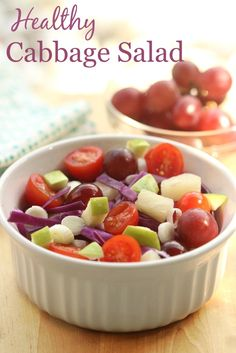 Healthy Cabbage Salad | Simply Fresh Dinners