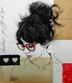Loui Jover If I could get my hair like that, with my glasses and all...
