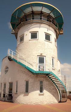 Lighthouse in Harlingen, Frisia, Netherlands