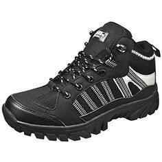 Air Balance Boys Hiking Boots - Black Silver *** More info could be found at the image url.
