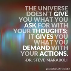 """There's no """"secret"""" to success, only action. Click through to find out more from Dr. Steve Maraboli."""