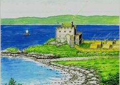 Castle Coeffin as it may have been. Scottish Castles, Scotland, Medieval, Golf Courses, Fantasy, History, Architecture, Buildings, Gardens