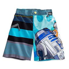afb49153c0 Star Wars Swim Trunks for Boys Blue Surfer Style, Travel Gifts, Swim Swim,