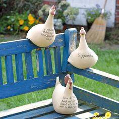 Hühnerhaufen, Neue Artikel 2012, Gartendeko, Tierische Gartendeko, Alles aus Keramik, Frohe Ostern!