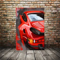 Excited to share this item from my #etsy shop: Porsche 911 Red Abstract Painting, Porsche art print, canvas car art print, automotive, garage wall art, man cave art, car enthusiast gift Modern Art Prints, Wall Art Prints, Canvas Prints, Porsche 911, Abstract Canvas, Painting Abstract, Man Cave Art, Garage Art, Garage Walls
