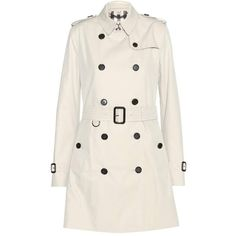 Burberry London Kensington Trench Coat ($1,256) ❤ liked on Polyvore featuring outerwear, coats, jackets, casacos, beige, burberry, burberry trenchcoat, pink trench coat, pink coat and trench coat