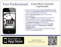 Il volantino per l'app Taxi Professional