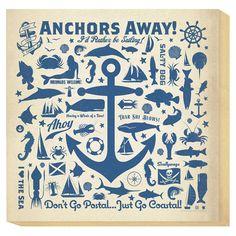Small Anchors Away Canvas Art